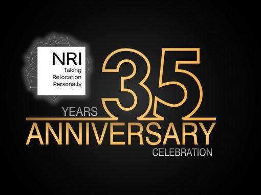 NRI Celebrates 35th Anniversary of Corporate Relocation Company Service Excellence